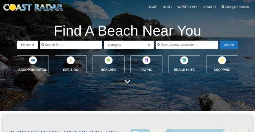 Coast Radar - beach and coastal information site