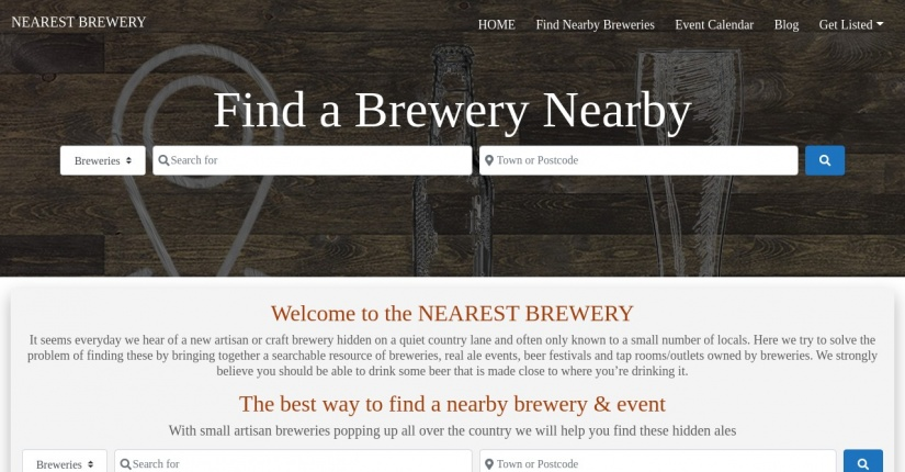 Nearest Brewery - UK brewery search site